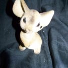 Vintage 1960s Flocked Big Eye MOUSE Figure Toy