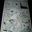 Vintage 1950s Original Comic Book Art Cowboy ZIPPY CHIMP 1 p18