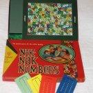 Vintage Cadaco NIK-NAK NUMBERS Board Game MINT Complete