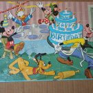 Vintage MICKEY MOUSE BIRTHDAY Jaymar Toy Jigsaw Puzzle
