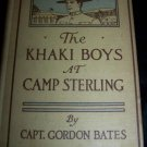 Antique KHAKI BOYS AT CAMP STERLING Gordon Bates Children's  Book