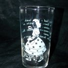 Vintage MARY HAD A LITTLE LAMB Libbey Glass Tumbler