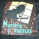 Vintage 1938 MYSTERY PUZZLES Saalfield PB Children's Coloring Activity Book