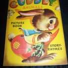 Vintage 1950 CUDDLY ANIMALS Samuel Lowe Picture Book