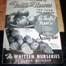 Vintage 1948 WHITTEN NURSERY Fruit Flower SEED CATALOG