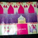 Vintage 1967 T.V OP-OUTS Castle Moon Cut Out Art Poster