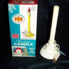 Vintage World Wide Lit Light Christmas Plastic Candle