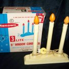 Vintage RENOWN 3 Lite Light Christmas Candolier Candle