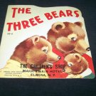 Vintage 1950 3 THREE BEARS PB Book Samuel Lowe 513-5