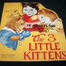 Vintage 1950 3 THREE LITTLE KITTENS PB Book Samuel Lowe