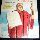 Vintage Ten Commandments for Children Rand McNally Book
