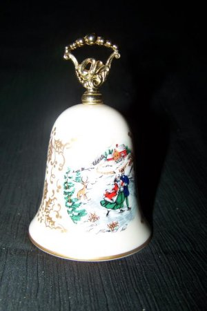 Vintage Gorham Fine China Porcelain CHRISTMAS BELL Lot of 2 1981, 1985