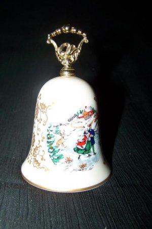 Vintage Gorham Fine China Porcelain CHRISTMAS BELL Lot of 2 1981, 1985