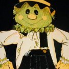 """Vintage 34"""" Halloween Diecut Paper Jointed SCARECROW"""