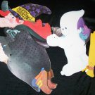 "Vintage 33"" Halloween Diecut Jointed Paper WITCH GHOST"