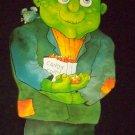 """Vintage 1980s Halloween FRANKENSTEIN 40"""" Jointed Diecut Paper Decoration"""
