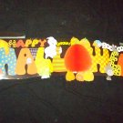 "Vintage 1980s HALLOWN SIGN Honeycomb 45"" Jointed Diecut Paper Decoration"