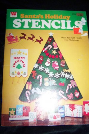 Vintage 1979 Whitman CHRISTMAS HOLIDAY STENCIL Book Lot