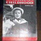 Vintage AMERICAN CHILDHOOD Magazine March 1950 Easter