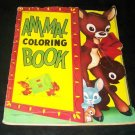 Vintage 1953 ANIMAL COLORING BOOK Children's Saalfield