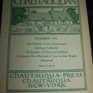 Antique THE CHAUTAUQUAN Magazine December 1910 Democratic England