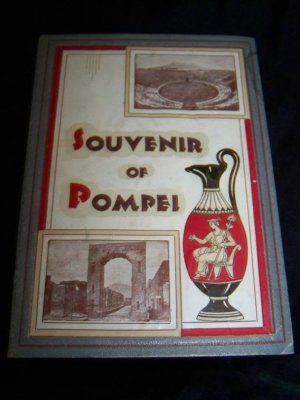 Vintage 1940s Italy SOUVENIR OF POMPEI Postcard Book Lot