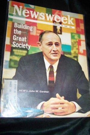 Vintage NEWSWEEK Magazine Feb 28 1966 JOHN W GARDNER
