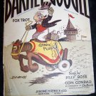 Vintage 1923 BARNEY GOOGLE Fox Trot Sheet Music Billy DeBeck Comic Character Illustration