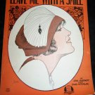 Vintage Sheet Music Leave Me With A Smile Barbelle Art Deco Flapper 1922