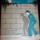 Vintage 1927 Me and My Shadow Sheet Music Al Jolson, Irving Berlin