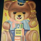 Vintage 1940s CHUBBY BEAR PAINT Coloring BOOK Samuel Lowe