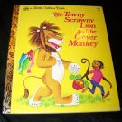 Vintage TAWNY SCRAWNY LION & CLEVER MONKEY Golden Book