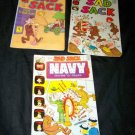 Vintage SAD SACK Harvey Comic Book Lot 186,252 Navy 3