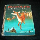 Vintage RUDOLPH Red-Nosed Reindeer Little Golden Book