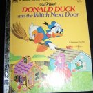 Disney DONALD DUCK & WITCH NEXT DOOR Little Golden Book
