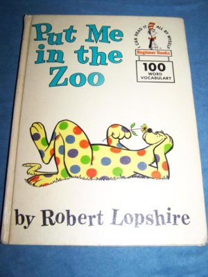 Vintage 1960 PUT ME IN ZOO~Dr Seuss~Beginner Book