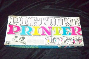 Vintage PICTURE PRINTER Arnold Toy Stamp Block Play Set