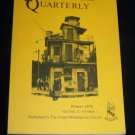 Shakespeare Quarterly Scholarly Journal Folger Library vol 27 #1 Winter 1976