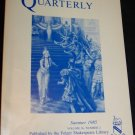 Shakespeare Quarterly Scholarly Journal Folger Library vol 36 #2 Summer 1985