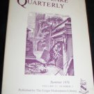 Shakespeare Quarterly Scholarly Journal Folger Library vol 27 #3 Summer 1976