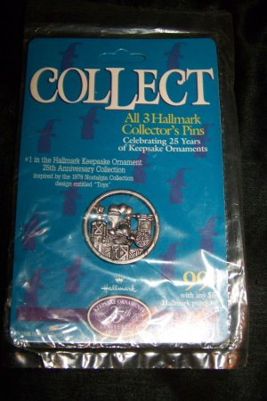 New 1998 Hallmark Christmas Toys Keepsake Ornament Collectors Pin #1