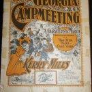 Antique 1897 Black Americana At A Georgia Campmeeting Two Stp Polka Cake Walk Sheet Music