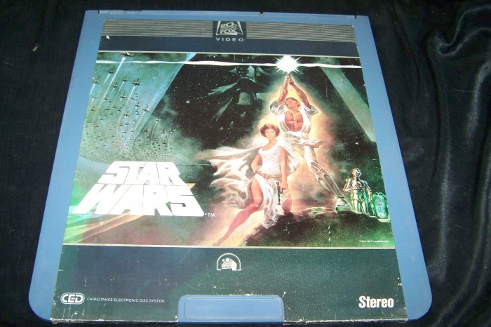 Vintage 1982 STAR WARS CED Videodisc Video Disc Movie