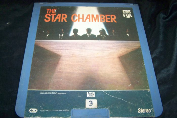 Vintage THE STAR CHAMBER CED Videodisc Video Disc Movie