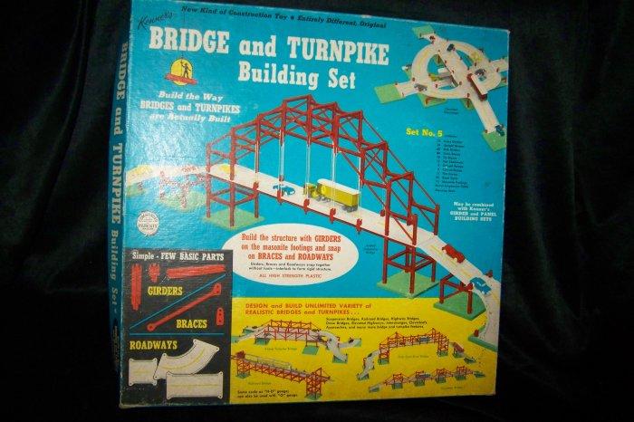 Vintage 1958 Kenner Bridge & Turnpike Building Set #5 Building Toy