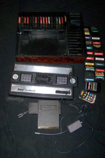 Vintage Intellivision III 3~Mattel Intellivoice Consule~Video Game Lot