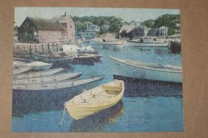 Vintage 1940s FISHING DORIES 250pc Jigsaw Picture Puzzle