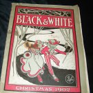 Antique BLACK & WHITE Christmas December, 1902 Art Illustrated Print Magazine