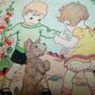 Antique Vintage 1920s-30s Children Puppy Dog Birthday Card
