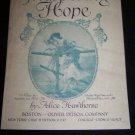Antique Vintage 1910 Whispering Hope Alice Hawthorne Sheet Music